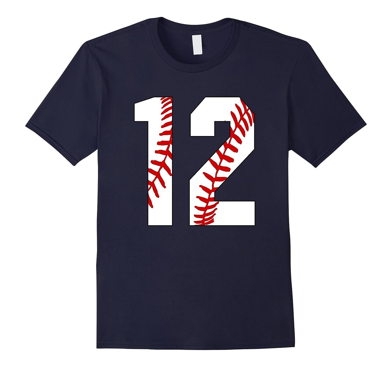 #12 Baseball Laces Baseball Mom Jersey Love Baseball T-shirt-BN