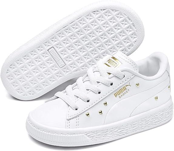Studs PS Chaussures Blanc à Coeurs Fille Puma: