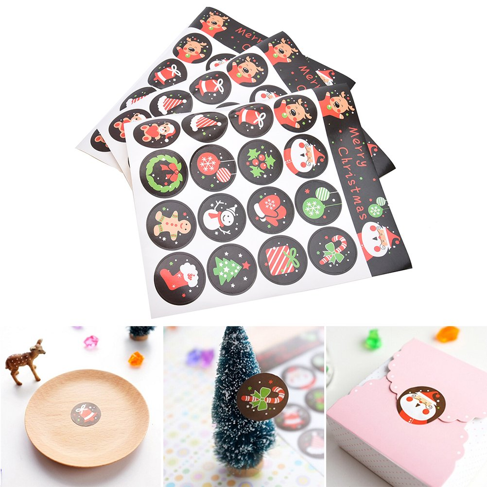 CosCosX 10 Sheets Flower Design Stickers Paper Labels Sealing Stickers Thank You Invitations Envelope Letter