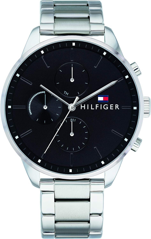 Tommy Hilfiger Reloj Multiesfera para Hombre de Cuarzo con Correa en Acero Inoxidable 1791485