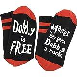 Funny Dobby Socks Novelty Knitted Words Combed Cotton Crew Socks Boyfriend Girlfriend Gift Socks