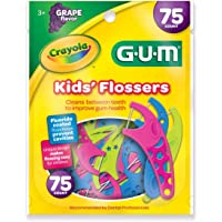 75-Count Gum Crayola Fluoride Coated Kid's Flossers (Grape / Ages 3+)