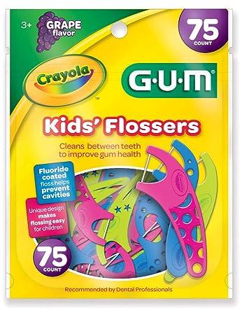 e9f8a5358 Fio Dental Infantil Kids Flosser Crayola Original 75 Unidades ...