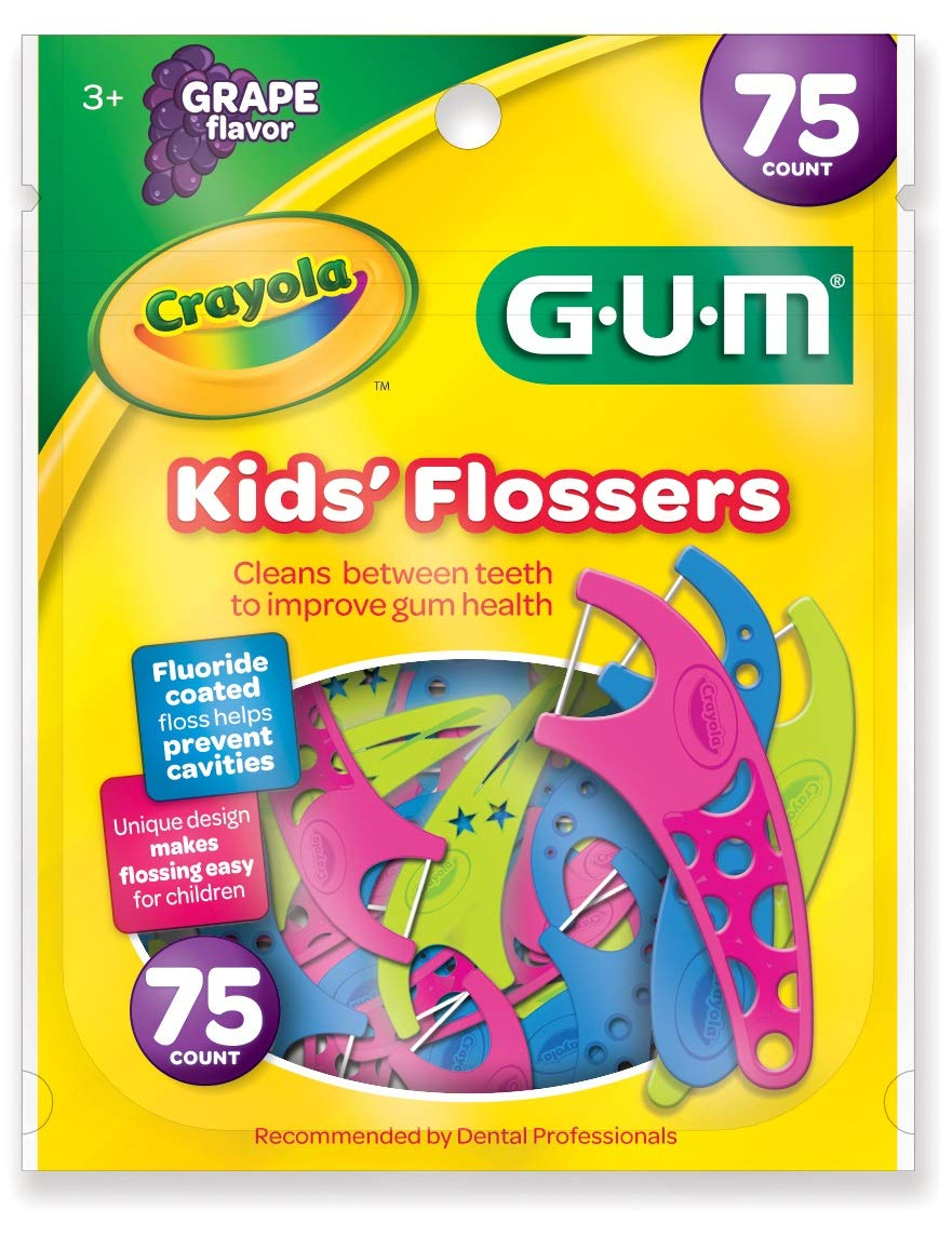 GUM Crayola Kids' Flossers (75 Flossers) Grape
