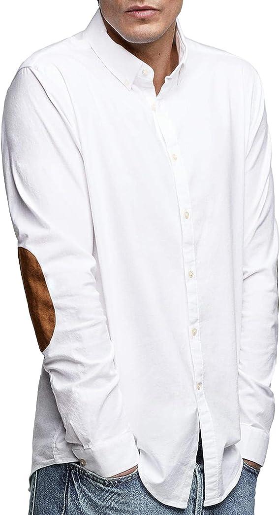 Zara 7545/324 - Camisa Oxford para Hombre con Parches en ...