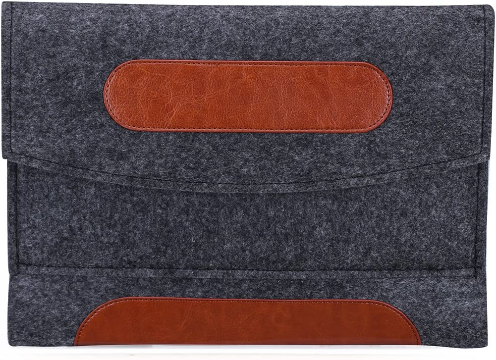 Premium Felt Carrying Sleeve Bag Pouch Case for iPad 9.7 (2018) / iPad 9.7(2017) / Samsung Galaxy Tab S3 9.7 / Chuwi Hi9 Air 4G LTE/Lenovo Moto Tab/Tab 4 10 Plus/Acer Iconia Tab 10 10.1 Tablet