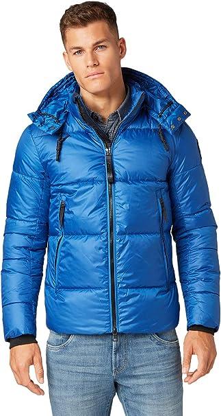 TOM TAILOR Herren Winter Jacke mit abnehmbarer Kapuze Gr. XL