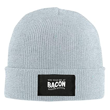 Xdinfong You Had Me At Bacon Winter Beanie Hat Knit Skull Cap For Men Women