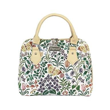 e7e192f98b74 Signare Tapestry Women Top Handle Handbag Shoulder Bag Cross Body Bag  Charles Voysey Spring Flower (CONV-SPFL)  Amazon.co.uk  Clothing