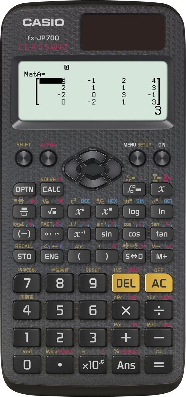 Casio scientific calculator FX-JP700-N high-definition Japanese display function and function more than 600