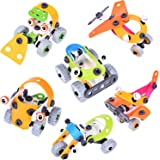 3Boxes DIY Stem Building Blocks Model Building Play Set 2-in-1, Construction Engineering Toys for Kids' Birthday Party,Easter Gifts,Easter Basket Stuffers