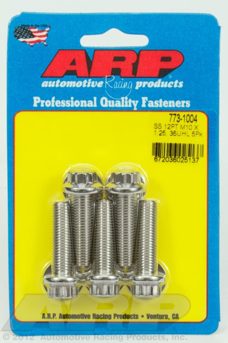ARP 773-1004 Metric 12Point Bolt 5Pieces Stainless Steel M10 x 1.25 x 35 Wrench