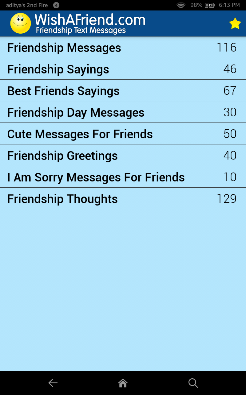 Amazon Friendship Quotes Messages Appstore For Android