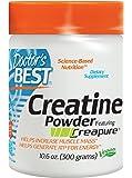 Doctor's Best Creatine Powder featuring Creapure, Non-GMO, Vegan, Gluten Free, 300 Grams