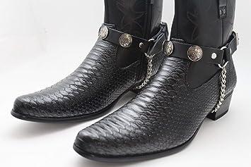 c5b74ce0026 Amazon.com : Men Indian Metal Silver Chains Fashion Western Shoe ...