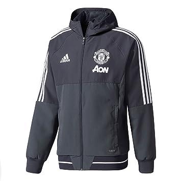 f0aba421a 2017-2018 Man Utd Adidas Presentation Jacket (Night Grey)