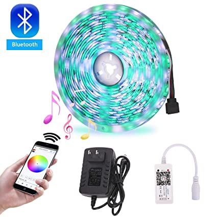 Amazon Com Richsing Bluetooth Led Strip Lights Music Led