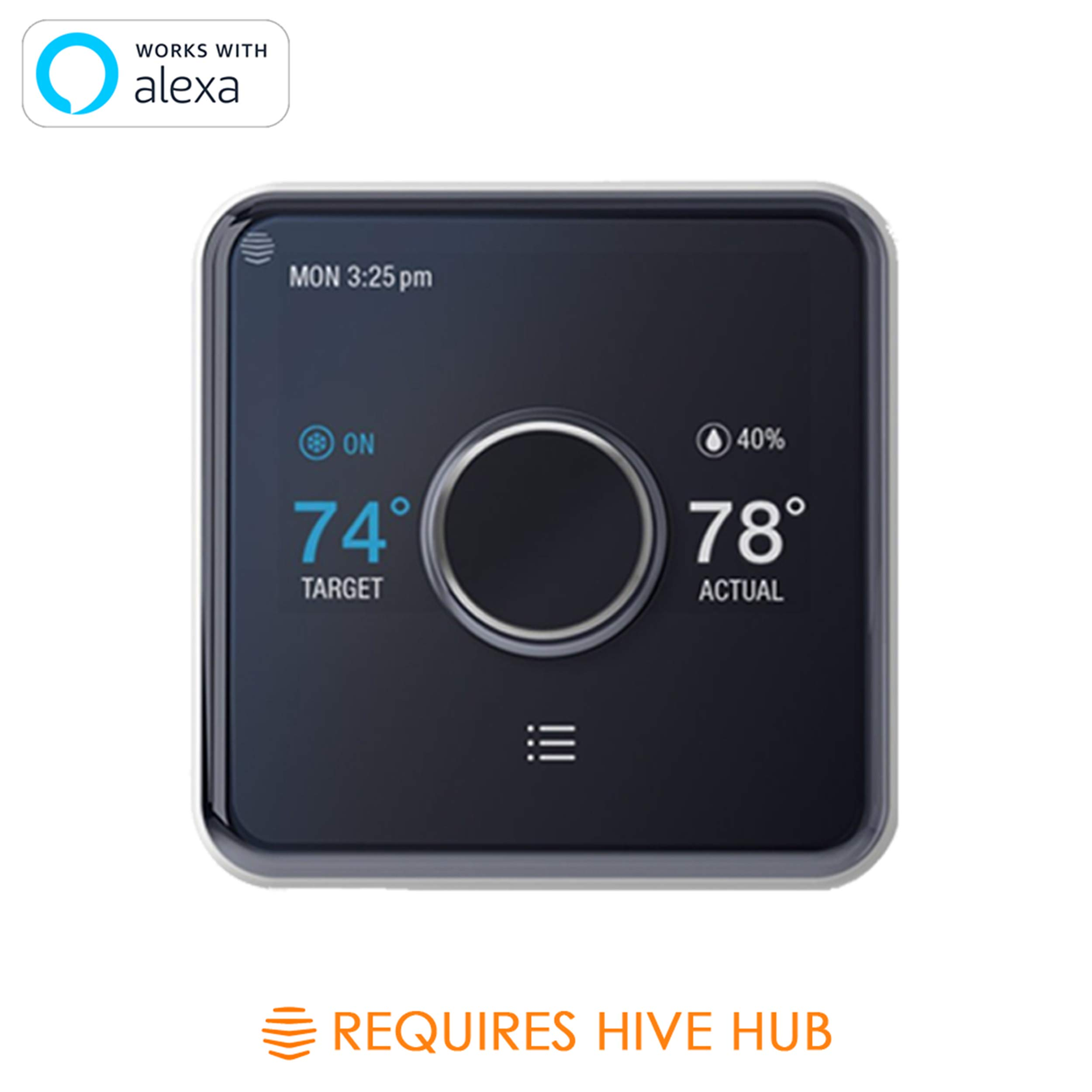 Hive Smart Home Thermostat, Works with Alexa & Google Home, Requires C-Wire & Hive Hub