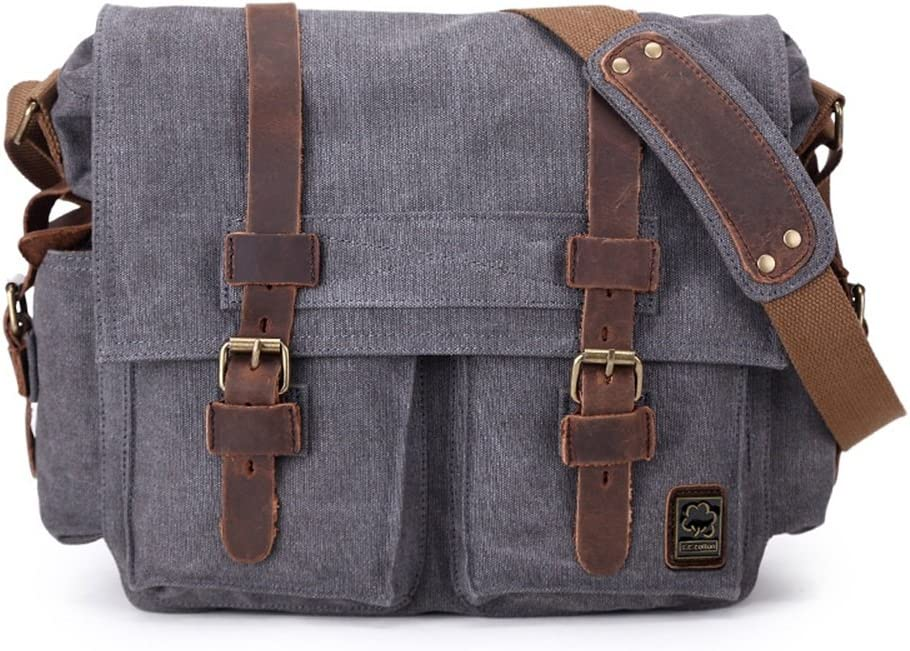 Color : Gray RHHWJJXB Mens Shoulder Messenger Bag Canvas SLR Camera Digital Camera Bag SLR Camera Bag