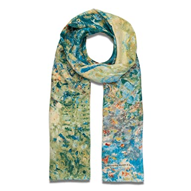 07a91c9dd Image Unavailable. Image not available for. Color: The Metropolitan Museum  of Art Women's Lightweight Floral Silk Fashion Scarf