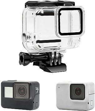 Yangers Funda Carcasa Protectora de Buceo Impermeable para GoPro Hero 7 Silver/White Modelo Cámara de acción, Cubierta de Silicona bajo el Agua Accesorios: Amazon.es: Deportes y aire libre