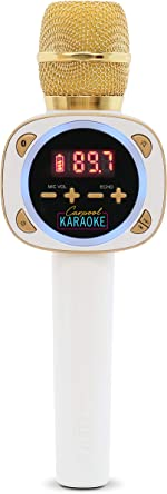 Singing Machine CPK545, Official Carpool Karaoke, The Mic, Bluetooth Microphone for