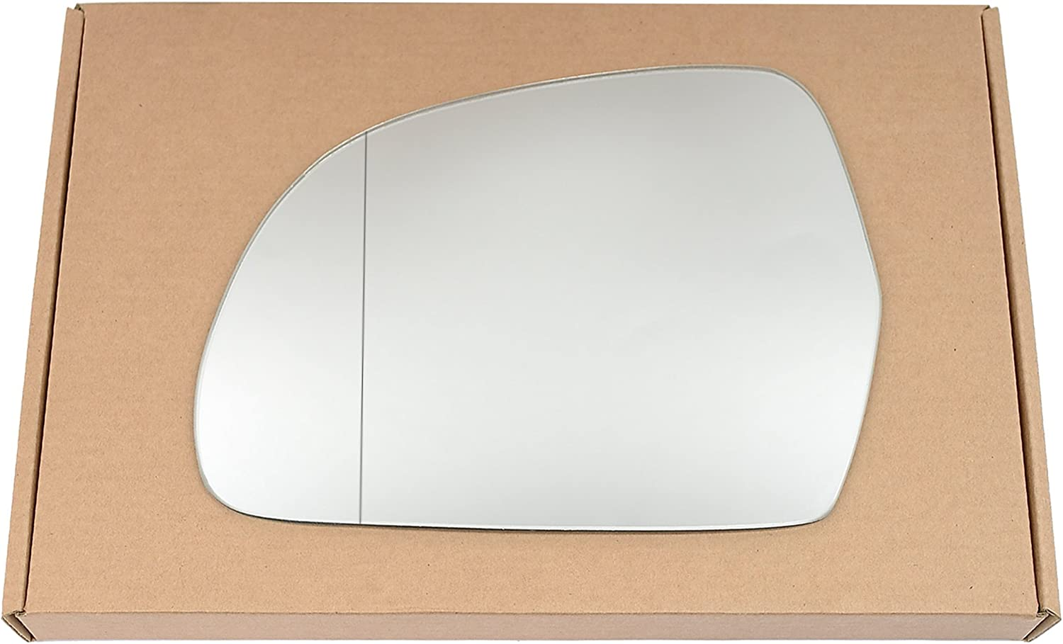 Wide angle Left passegner side Silver Wing mirror glass # AuA3//a01-2010966//590