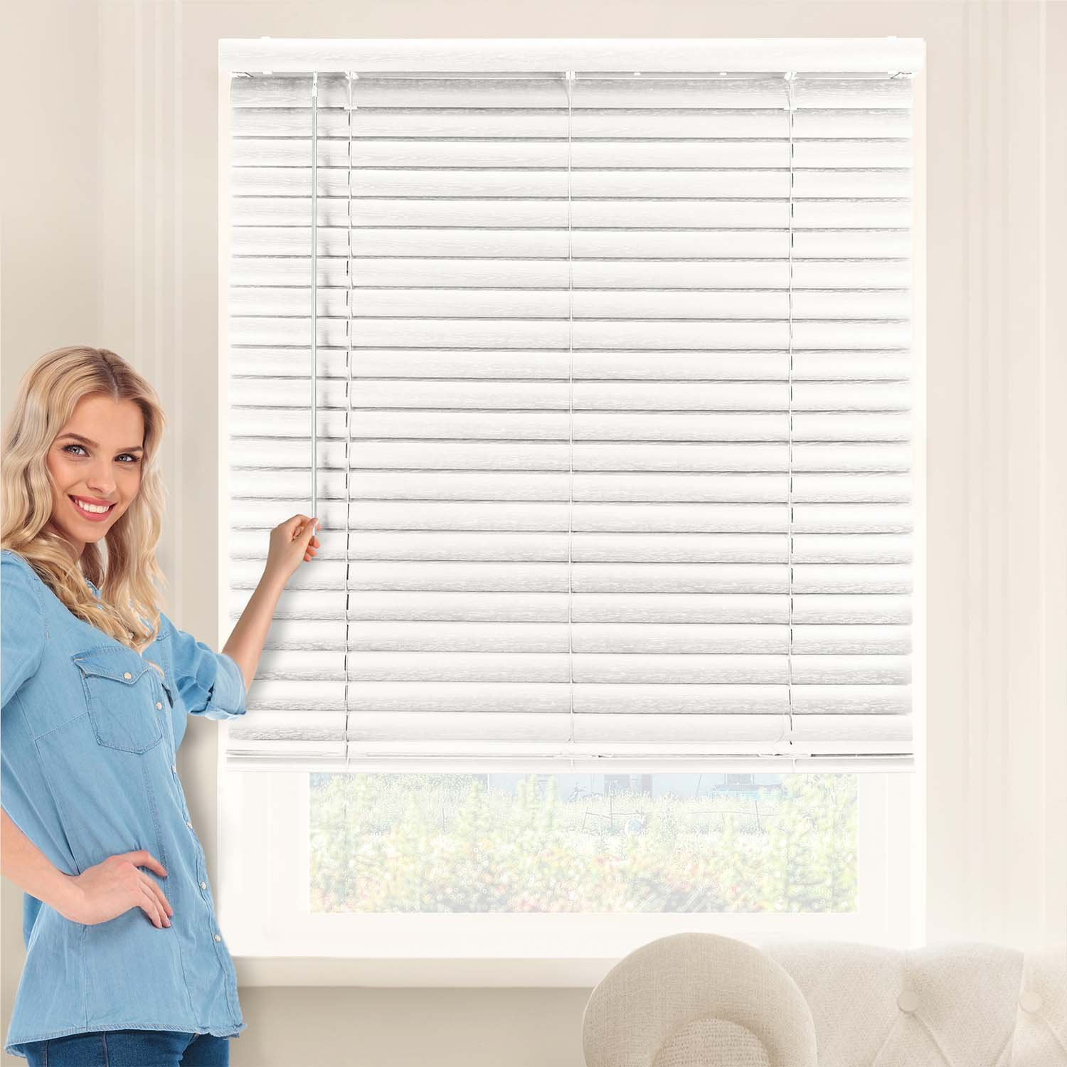 Vinyl Mini Window Blinds Better Homes And Gardens 2 Faux Wood Blinds