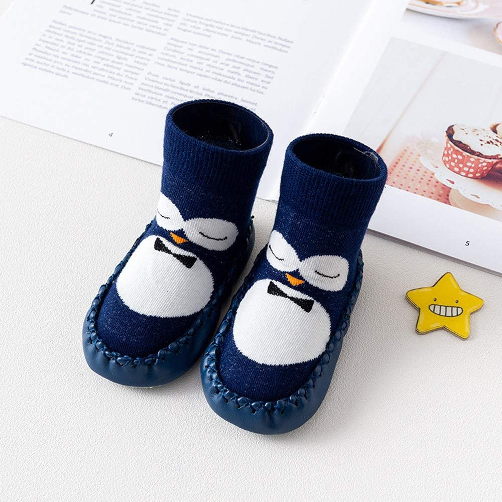 Baby Shoes Sunday77 Cute Cartoon Penguin First Walking Toddler Unisex Warm Soft Anti-Slip Casual Navy