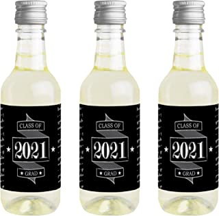 product image for Big Dot of Happiness Graduation Cheers - Mini Wine and Champagne Bottle Label Stickers - 2021 Graduation Party Favor Gift for Women and Men - Set of 16