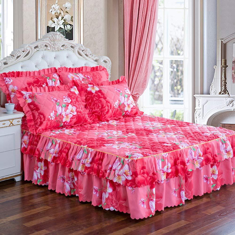 Se Utiliza para la versión Coreana de la Falda de la Cama de una Sola Pieza Cubierta de la Cama Gruesa 1.5m1.8m2 m Cubierta de colchón de la Cama 1.8 * 2m: ...
