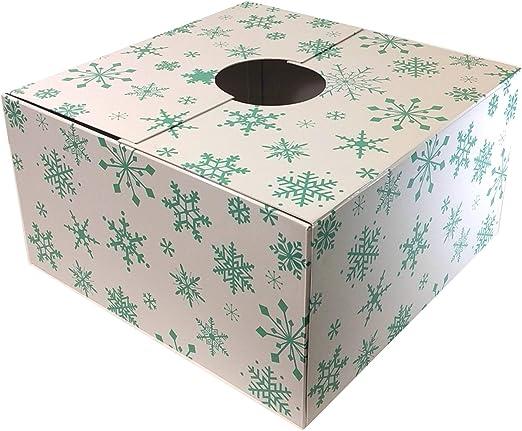 The Original - Caja para árbol de Navidad, diseño de Copo de Nieve, 50,8 x 50,8 x 27,9 cm: Amazon.es: Hogar