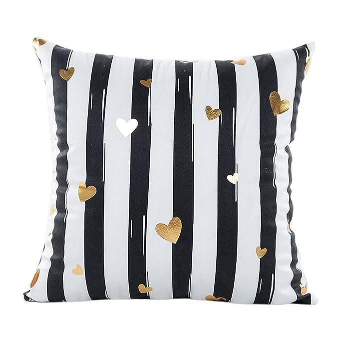 Amazon.com: Fundas de almohada, Thenlian dorado de impresión ...