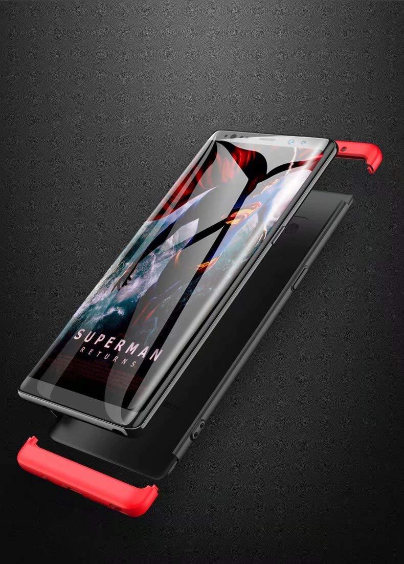 LsYun Funda Phone XKLI Compatible para Phone XKLI Caso 360/°Protecci/ón Carcasa Bumper Antideslizante A Prueba de Golpes Regalo Pel/ícula de Vidrio Templado-Rojo
