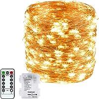 DeepDream LED Luces de Cadena Pilas, 20M 200LED Guirnaldas Luminosas con Control Remoto,Impermeable luces Interior y…