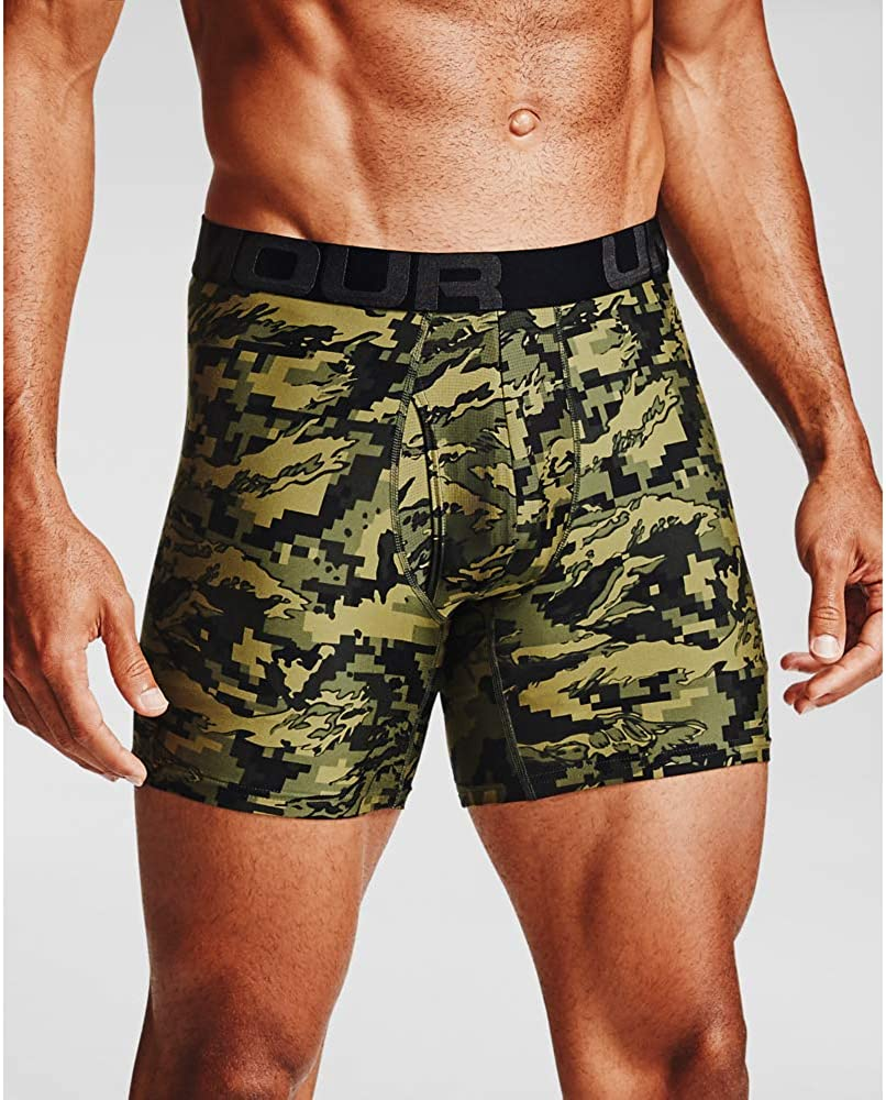 "NWT men/'s Under Armour Tech Boxerjock Boxer Briefs 6/"" black//red soft XL  1310817"