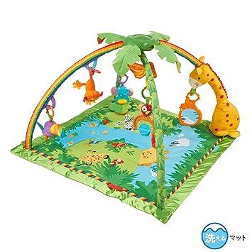 3in1 Krabbeldecke Spieldecke Spielbogen Spielmatte Erlebnisdecke Musik Baby Gym GläNzende OberfläChe Krabbeldecken
