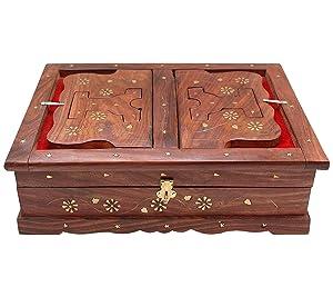 BuyCraft Wooden Quran,Geeta Rehal Box
