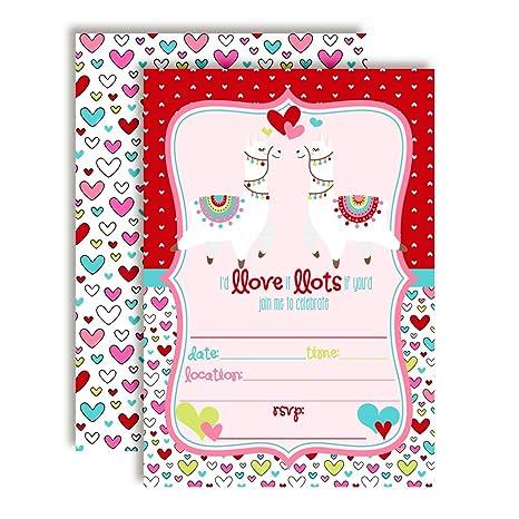 Amazon Com Llamas In Love February Valentine Birthday Party