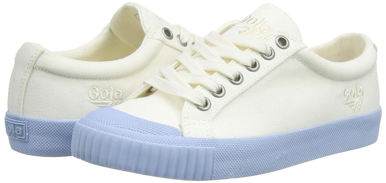 Gola Womens TIEBREAK Candy Trainers White//Powder BLU WE 5 UK 38 EU