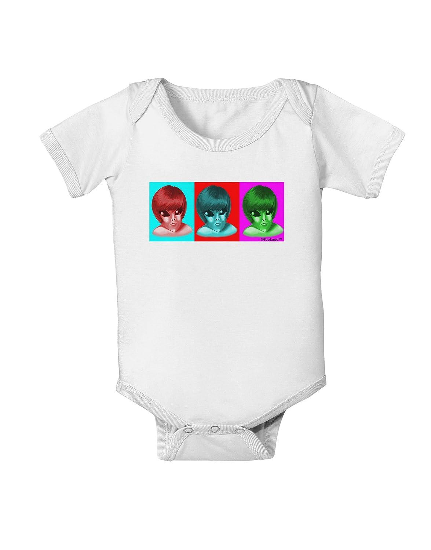 TooLoud Extraterrestial Pop-Art #2 Baby Romper Bodysuit