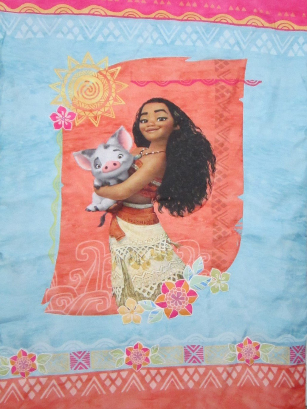 Moana Ocean Spirit 100% Polyester (COMFORTER ONLY) Size TODDLER Girls Kids Bedding Crown Crafts Infant Products Inc.