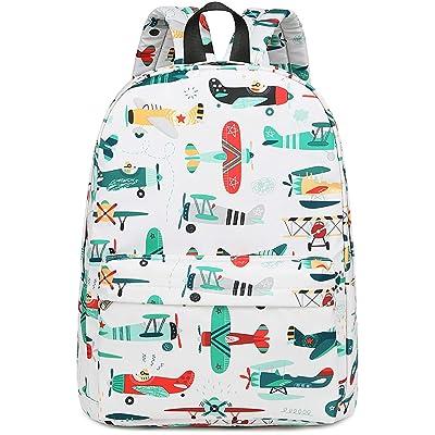 CAMTOP Preschool Backpack for Kids Boys Kindergarten Backpack Toddler School Bookbags (Plane-White)   Kids' Backpacks