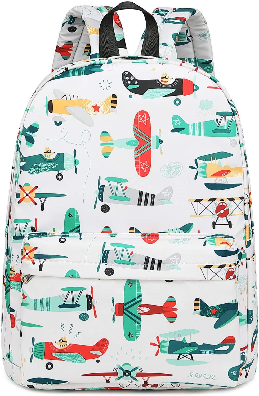 CAMTOP Preschool Backpack for Kids Boys Kindergarten Backpack Toddler School Bookbags (Plane-White)