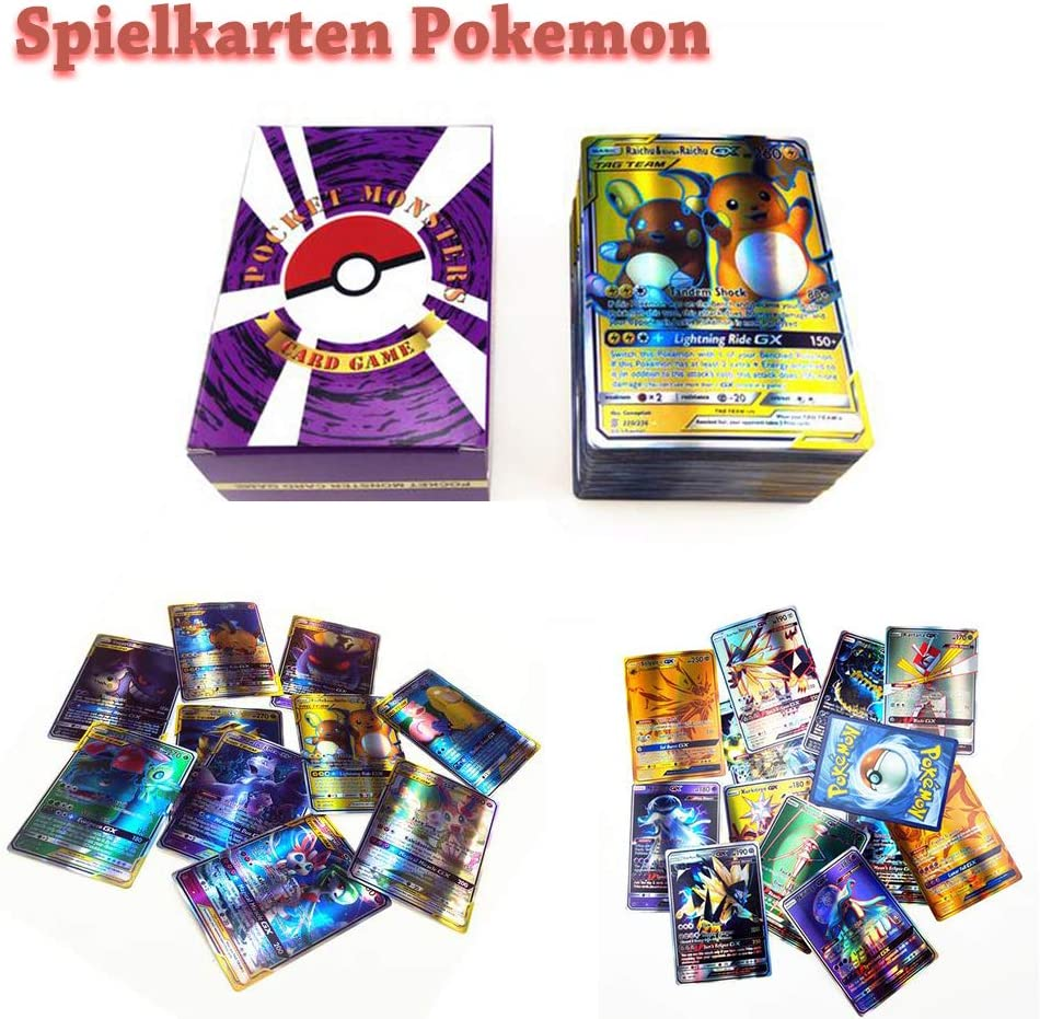 Newest 324pcs Pokemon EVOLUTION English EX WITH FLASH CARD TCG Booster Toy Gift
