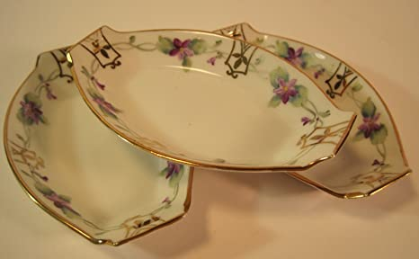 Vintage Serving Bowl accented with Flowers