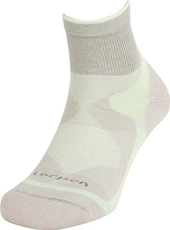 Lorpen trilayer de las mujeres calcetines de deporte, mujer, XCTW2933, gris y verde