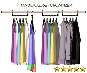 Amazoncom Magic Hangers As Seen On Tv Save Closet Space Clothes