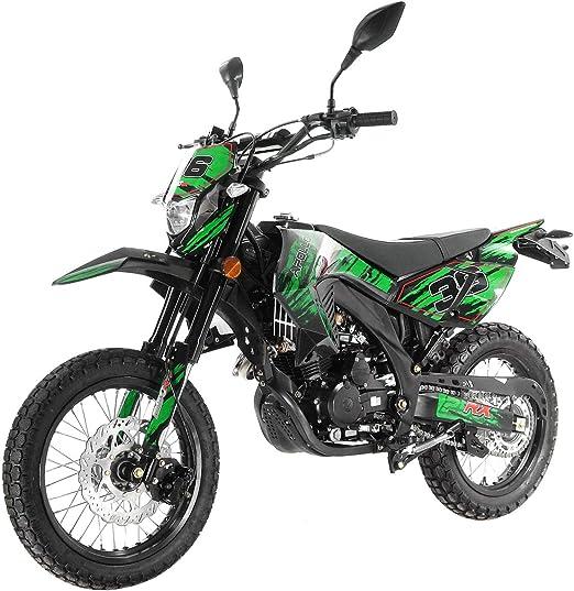 Google and Handgrip Green X-Pro 250cc Dirt Bike Pit Bike Adult Dirtbike 250cc Motorcycle Bike Street Bike with Gloves