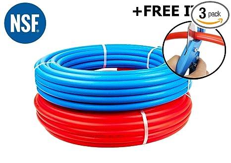 1/2-Inch Pex Tubing Combo - 100' Blue 100 Feet Red Flexible